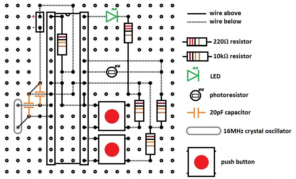 arduino circuit to demonstrate scattering of light